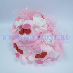 Букет из 3 хрюшек — Розовый