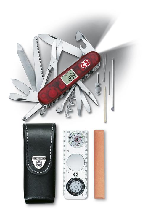 Нож Victorinox Expedition Kit, 91 мм, 41 функция, полупрозрачный красный