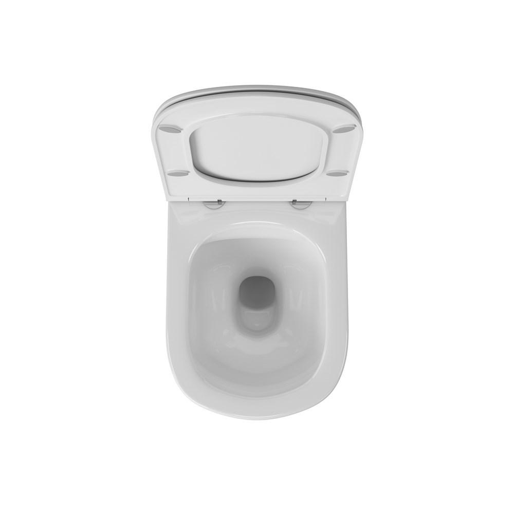 Унитаз подвесной безободковый OWL Eld Cirkel-H с сиденьем DP микролифт