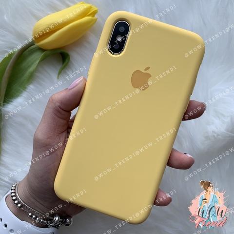 Чехол iPhone XS Max Silicone Case /yellow/ желтый 1:1