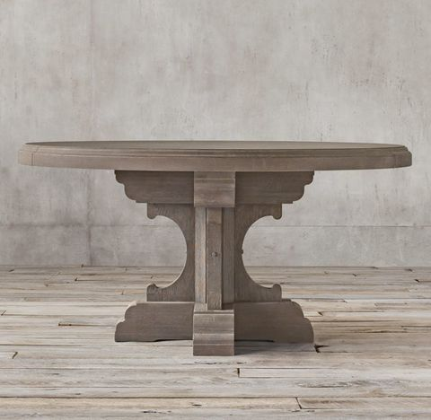 17th C. French Bastide Oak Round Dining Table