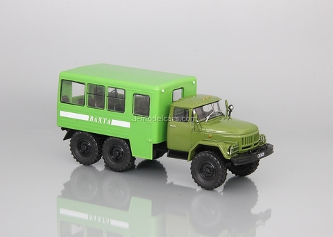 ZIL-131 shift work bus khaki-green 1:43 DeAgostini Auto Legends USSR Trucks #27