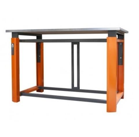 Усиленный металлический стол для гаража. Глубина столешницы 750 мм.