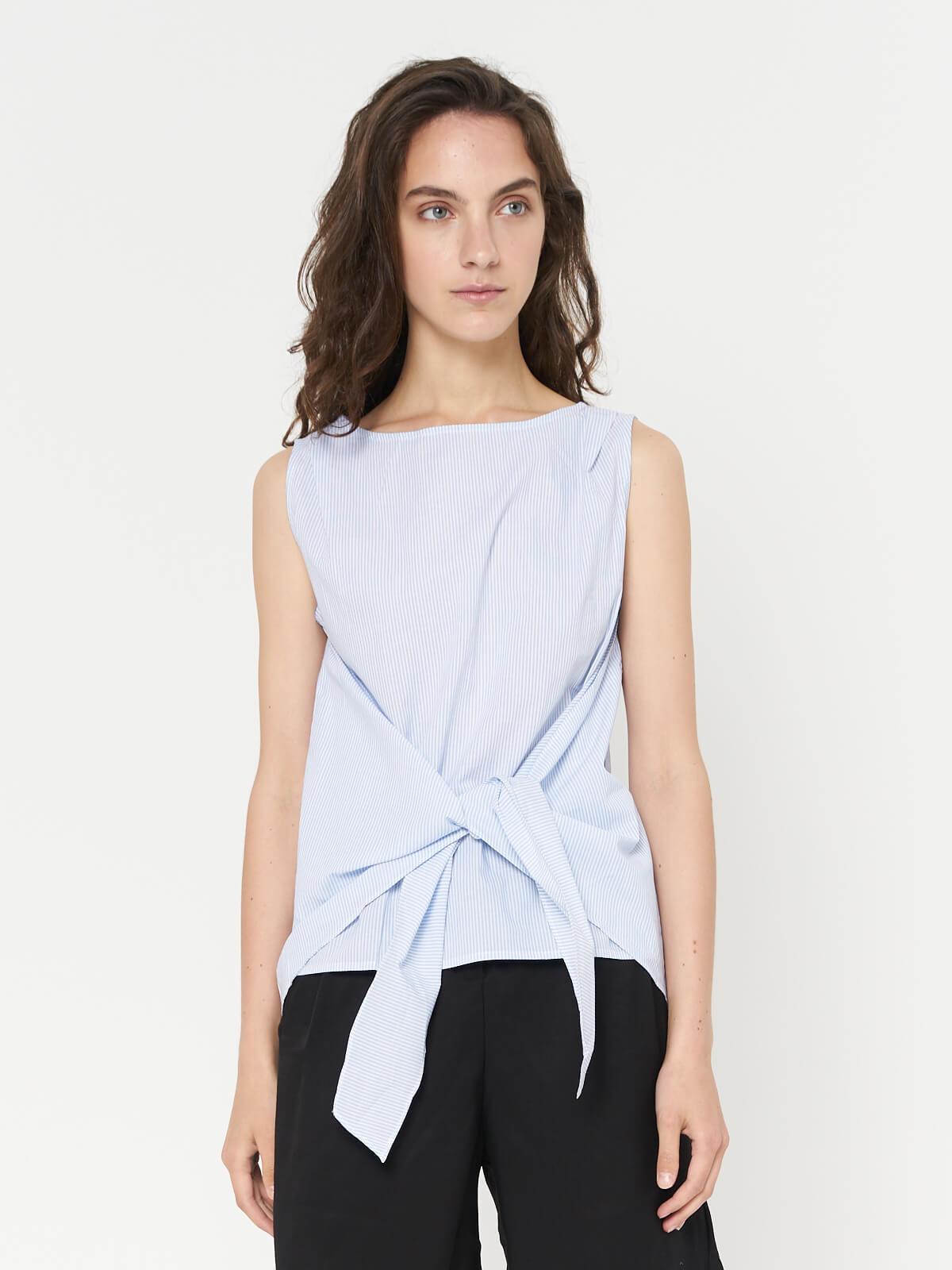 Блуза без рукавов на завязке