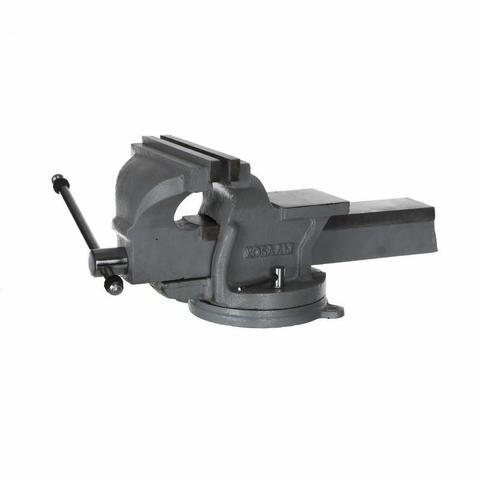 Тиски слесарные поворотные КОБАЛЬТ стальные ширина губок 200 мм, захват 200 мм, 16.5 кг,   (248-993)