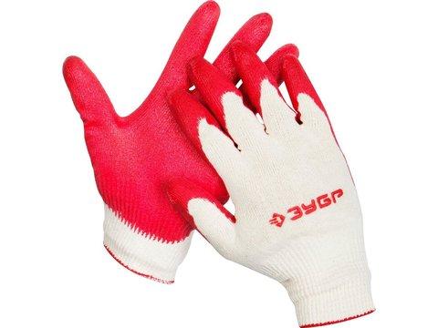 ЗУБР УНИВЕРСАЛ, размер L-XL, перчатки с одинарным латексным обливом, 11458-XL