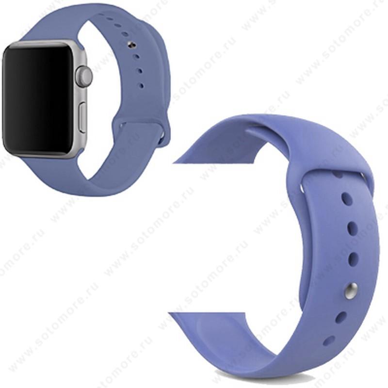 Ремешок для Apple Watch 42/ 44 mm силиконовый светло-синий
