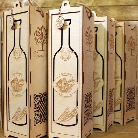 Коробка из фанеры для алкоголя Пенал