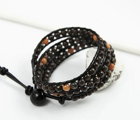 Массивный браслет в стиле Чан Лу из яшмы