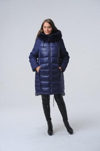 Куртка для беременных 11016 сине-васильковый