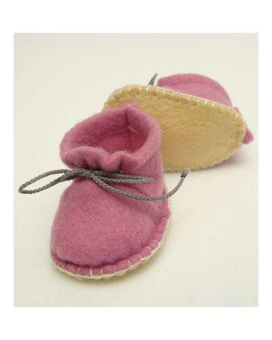Ботиночки из фетра - Цикламеновый. Одежда для кукол, пупсов и мягких игрушек.