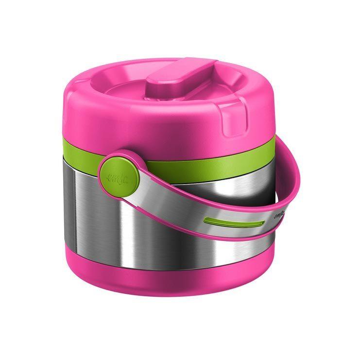 Термос детский для еды Emsa Mobility Kids (0,65 литра), розовый/зеленый