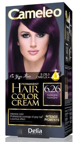 Delia Cosmetics Cameleo Крем-краска для волос тон 6.26 баклажановый