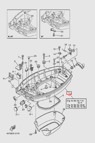 Поддон мотора для лодочного мотора T40 Sea-PRO (13-1)