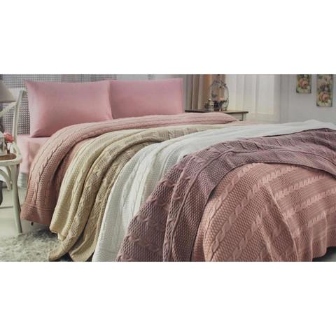 Набор постельного белья с пледом Dilara кремовый Gelin Home