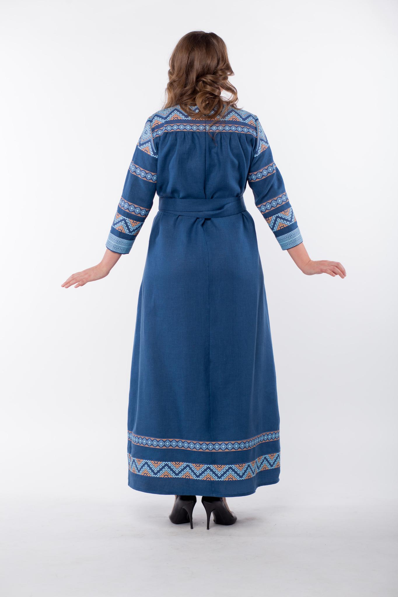 Платье льняное Каспийское в пол