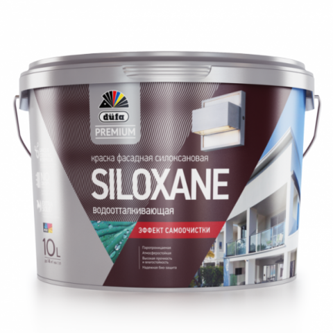 Силоксановая фасадная краска Düfa Premium SILOXANE.
