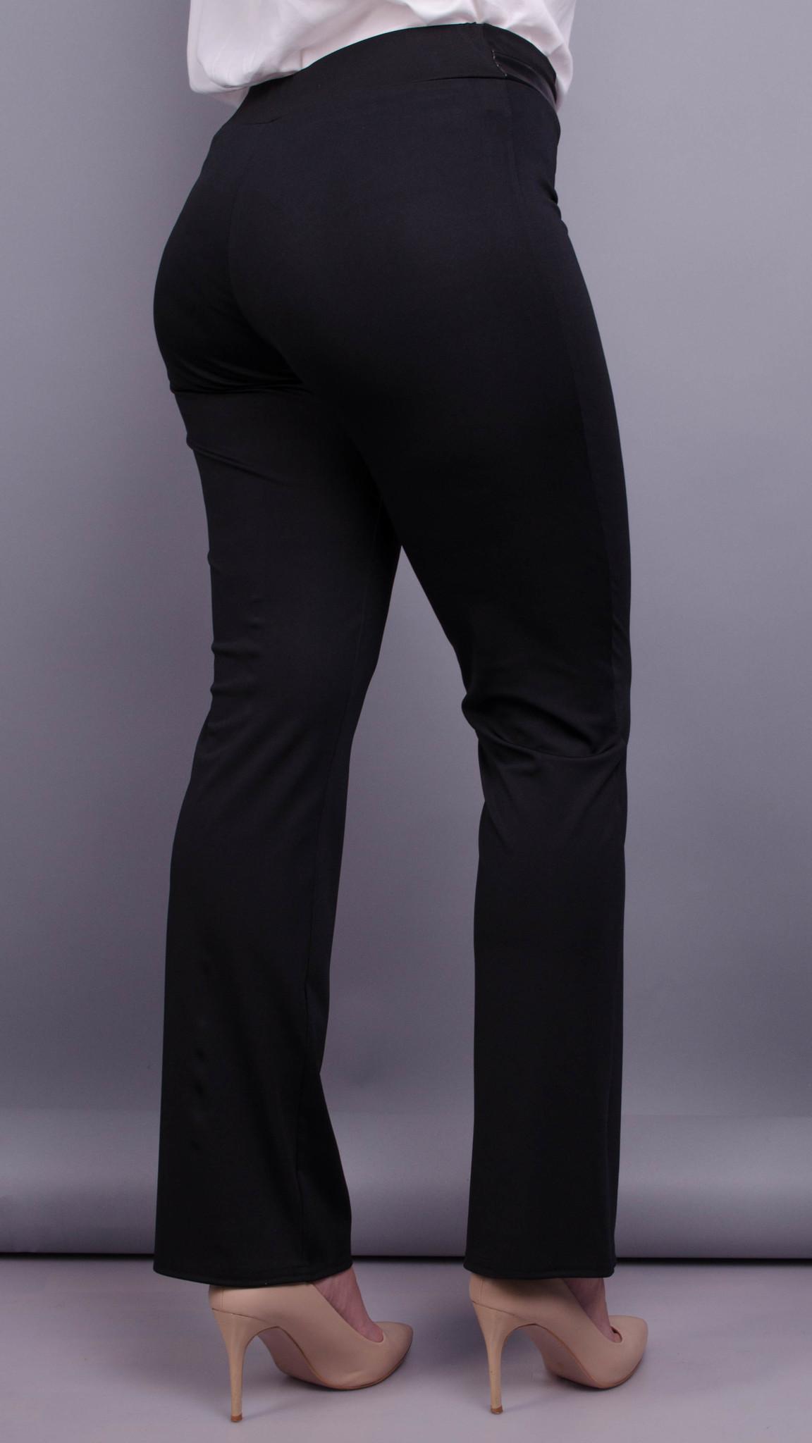 Никки. Женские брюки больших размеров утепленные. Черный. f1ff18e4ed356