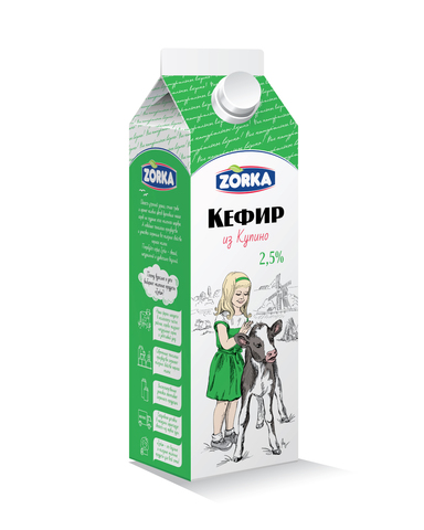 "Кефир ""Zorka"" 2,5%  900мл"