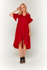Ярко-красное длинное платье Lolly