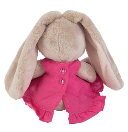 Зайка Ми в розовом сарафанчике и ромашкой на ушке