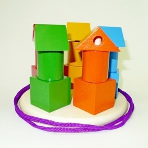 Пирамидка Башенки цветные