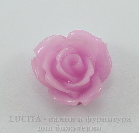 """Кабошон акриловый """"Розочка"""", цвет - розовый, 18 мм"""