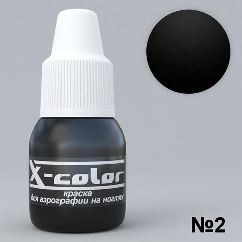 Краска для аэрографии №2 - Черная 5мл