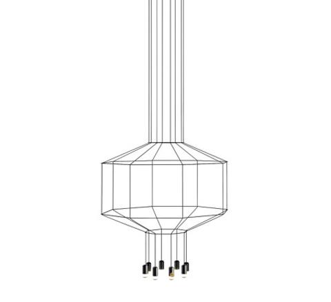 replica  Wireflow 3D Octagonal pendant