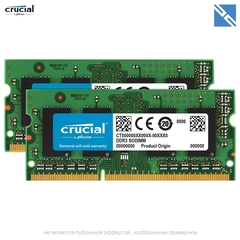 Комплект модулей памяти Crucial 16GB для Apple 2011-2012-2015 (набор 2x 8GB) 1600MHZ DDR3L SO-DIMM PC3-12800 16Gb kit