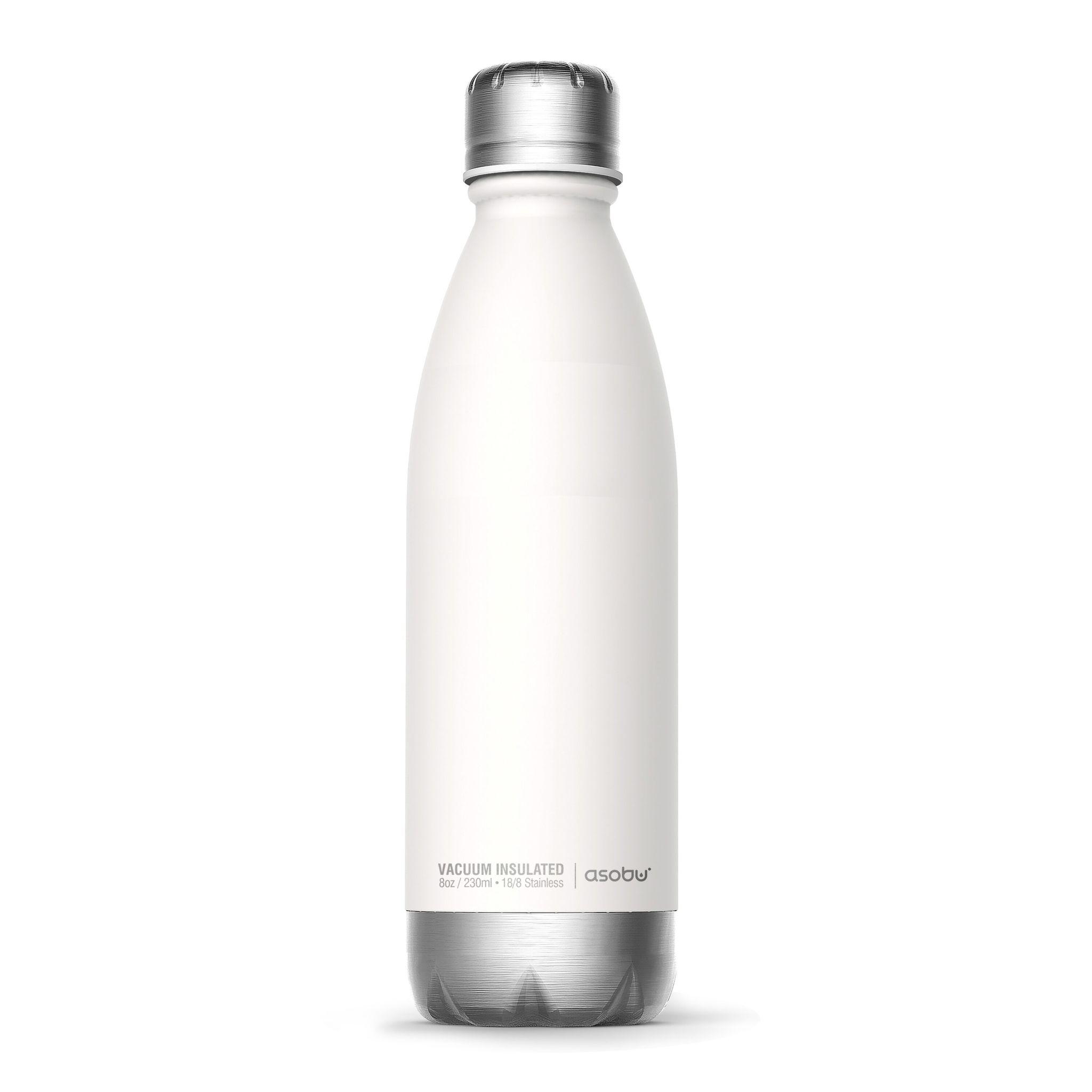 Термос-бутылка Asobu Central park (0,51 литра), белая/серебристая*