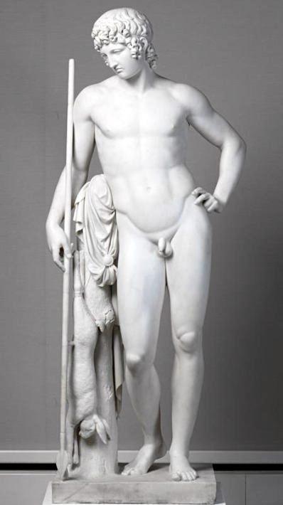 Бертель (Альберт) Торвальдсен. Адонис. 1808. Мрамор. 182 x 77 x 45,5 см. Германия. Мюнхен. Новая Пинакотека.