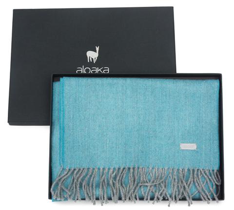 Плед-шарф шерстяной 30x200 Alpaka бирюзовый