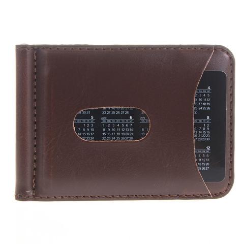 Зажим мужской для денег коричневый из эко кожи GALIB M135-П1B-Brown