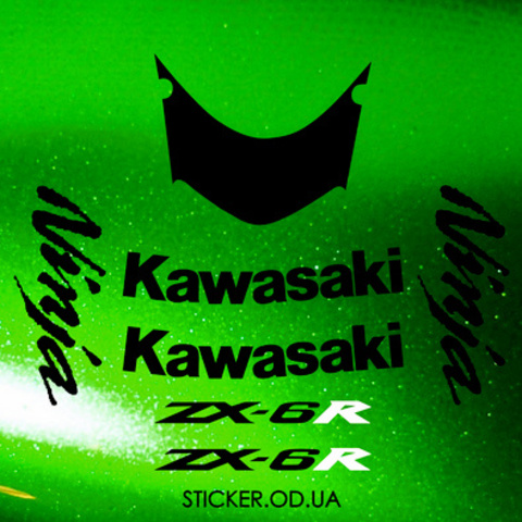 Набор наклеек на мотоцикл KAWASAKI ZX-6R 2007