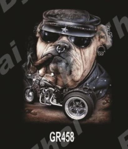 GR458 Бульдог в кепке с сигарой M