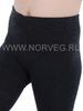 Термоколготки из шерсти мериноса Norveg Multifunctional Black детские