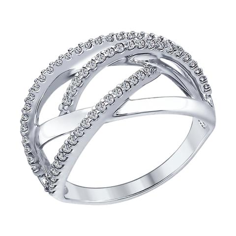 Кольцо из серебра с фианитами от SOKOLOV арт.94012303