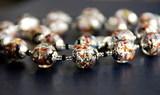 Ожерелье Арлекино серебристое, крупные бусины