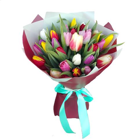 Букет микс из 29 тюльпанов 1