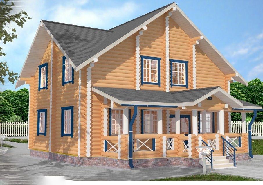 """Строительство домов из бруса и бревна Дом из бревна """"МД-Ц-189"""" 189 кв.м. -c-189.jpg"""