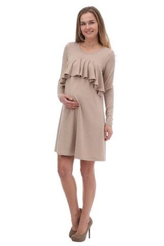 Платье для беременных и кормящих 10197 бежевый