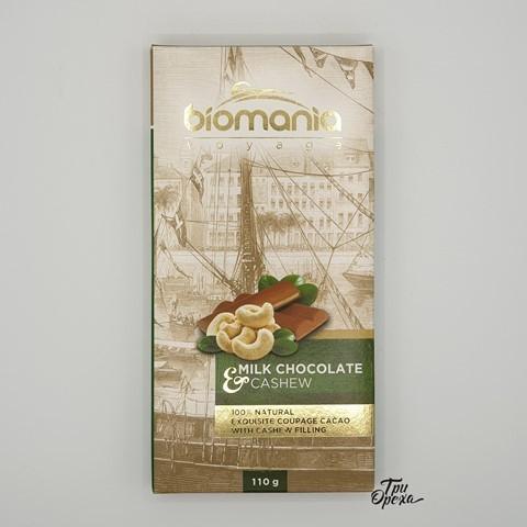 Молочный шоколад с урбечом из кешью BIOMANIA, 110 гр