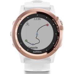Наручные часы Garmin Fenix 3 Sapphire золотые c белым ремешком (без датчика) 010-01338-51