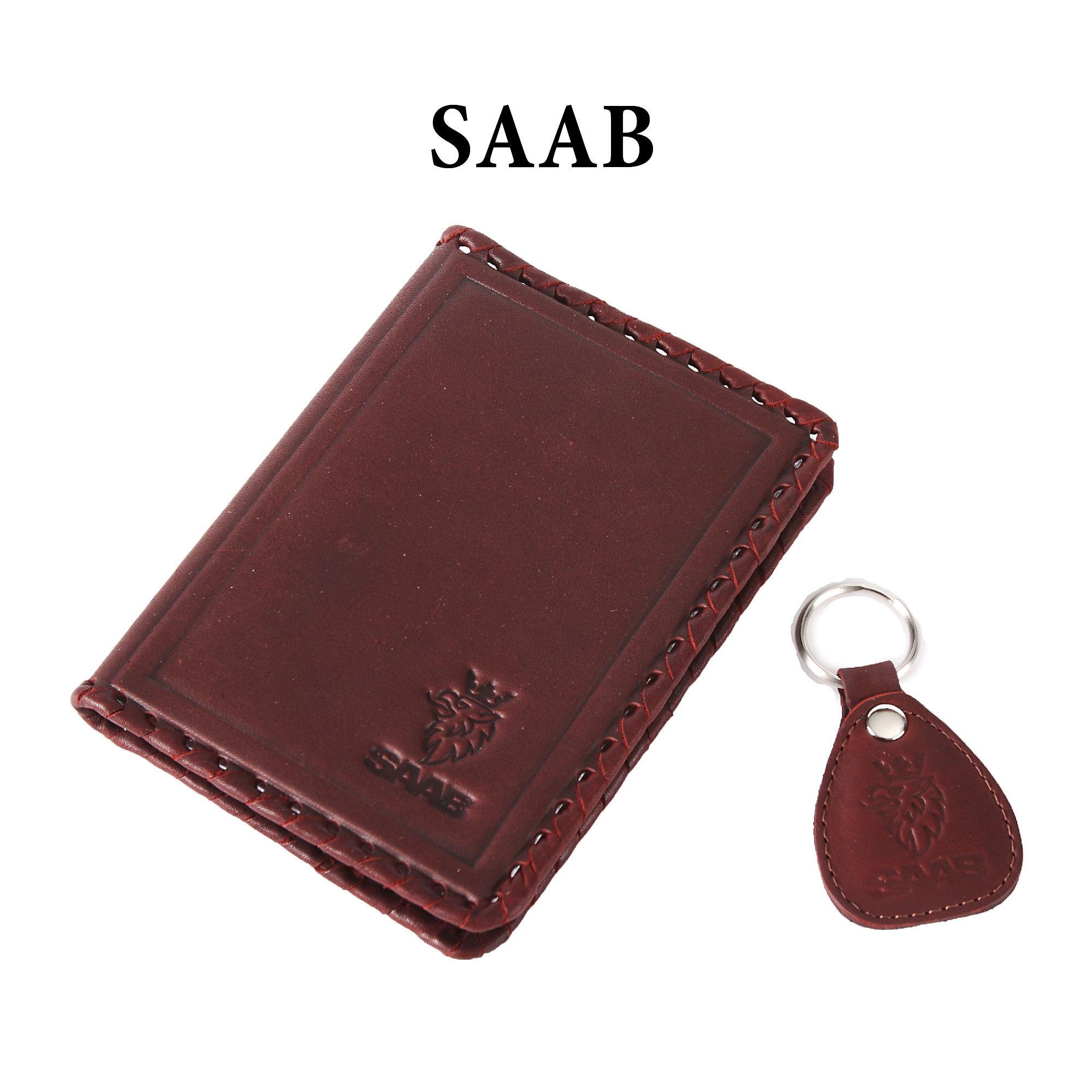 Обложка для водительского удостоверения с брелком «SAAB»
