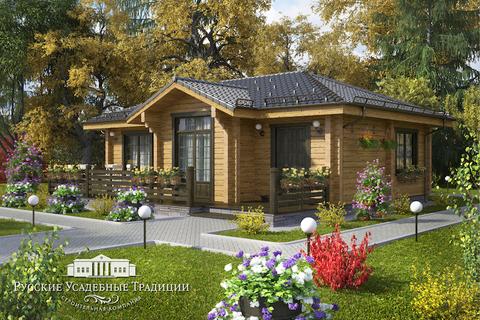 """Одноэтажный дом """"Гамма"""" 80 кв.м. из СИП панелей"""