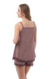 Пижама для беременных и кормящих 09988 коричневый