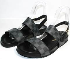 Стильные мужские сандалии Louis Vuitton 1008 01Blak.
