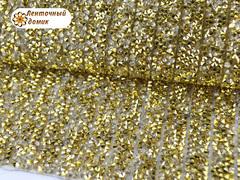 Полоса со стразами на силиконовой основе золотая