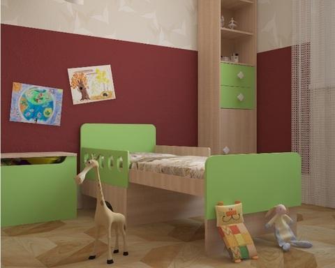 Кровать БАРБАТЕ вырастайка зелёный